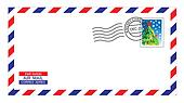 christmas airmail envelope