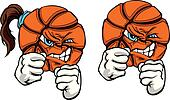 Fighting Basketball Ball Vector