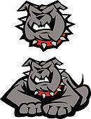 Bulldog Mascot Body Illustration