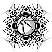 Basketball with Tribal Borders