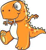 Crazy Insane Orange Dinosaur T-Rex