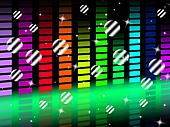 Music Background Shows Singing Harmony and Pop