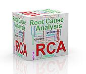 3d rca root cause analysis wordcloud cube