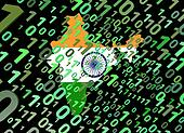 binary and India map flag