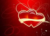 Two Hearts - Valentines Day - Love