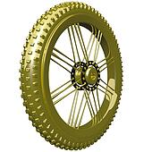 Gold Bike Tire Trophy