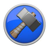 Old fashioned hammer icon