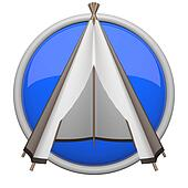 Blue teepee icon