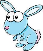 Silly Blue Bunny Rabbit Animal