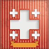 Vintage Background Hospital Cross