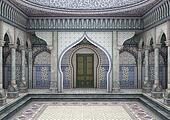 3d Illustration Oriental Palace
