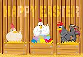 happy easter - suprised poultry and