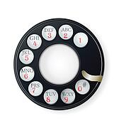 Rotary Phone Dial isolated on white