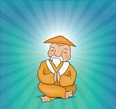 Zen Master Meditating