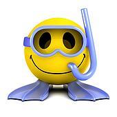 3d Smiley diver