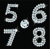 Set of diamond alphabetic figure . Vector (2)