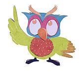 owl bird  paper craft stick background