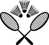 Equipment for the badminton, silhouette