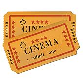 Cinema Tickets Isolated on White