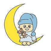 baby boy on the moon