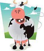 Cartoon Funny Cow