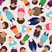 seamless family pattern