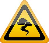 Hurricane warning sign