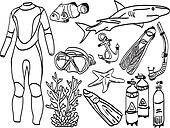 Diving equipment and sea life