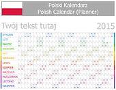 2015 Polish Planner-2 Calendar with