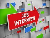 3d moving arrow - job interview