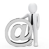 businessman email symbol