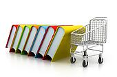 Stack of books and trolley