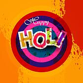 Indian festival Happy Holi splash bright colorful design vector