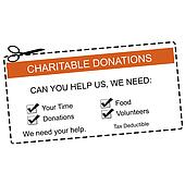 Charitable Donations Orange Coupon