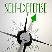Self defense on green compass