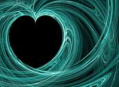 Teal Blue heart backgrounds