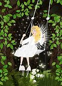 Fairy forest with fey