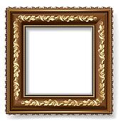 retro frame with gold leaf