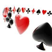 Background made of playing card suits