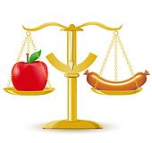 Balanced Diet Clip Art - Royalty Free - GoGraph
