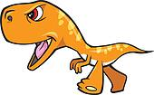 Tough Orange Dinosaur T-Rex Vector