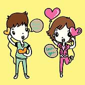 cartoon vector for Valentine's Day