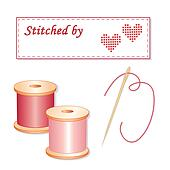 Sewing Label, Needle and Threads