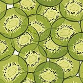 Kiwi seamless pattern