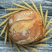 A good bread campaign on a wooden a