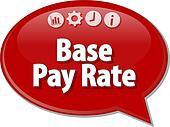 Base Pay Rate Business term speech bubble illustration