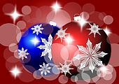 Colored Christmas bulbs