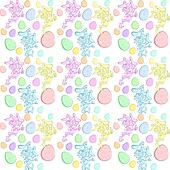 Vector Easter seamless background with Happy Cartoon Rabbit