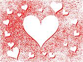 Abstract Heart Holiday Background