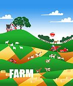 illustration of a farmland